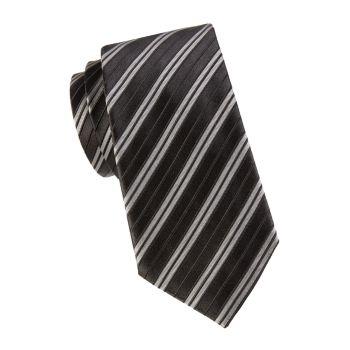 Полосатый галстук из смесового шелка Armani Collezioni