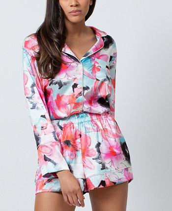 Женский атласный пижамный комплект из жаккарда KILO BRAVA