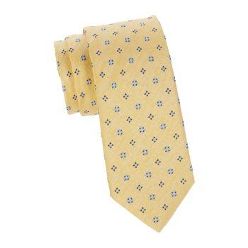 Цветочный шелк & amp; Льняной галстук Brioni