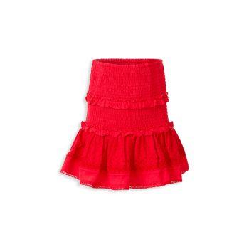 Girl's Lolita Shirred Skirt Bardot Junior