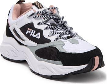 Кожаные кроссовки Recollector с цветными блоками Fila