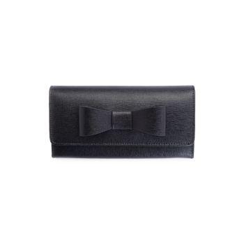 RFID-блокирующий кошелек с бантом из сафьяновой кожи Royce Leather