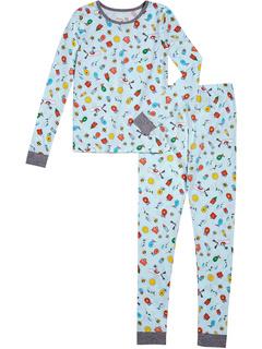 Пижамный комплект из двух частей с длинными рукавами и книжкой-раскраской (для малышей / маленьких детей / старших детей) BedHead Pajamas Kids