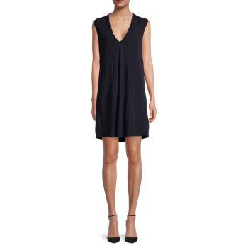 Платье без рукавов с глубоким V-образным вырезом Helmut Lang