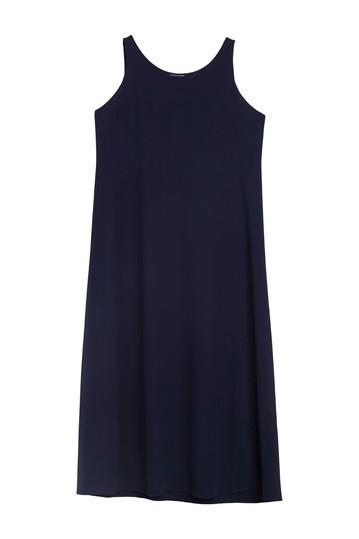 Платье миди из шелка с вырезом Scoop Eileen Fisher