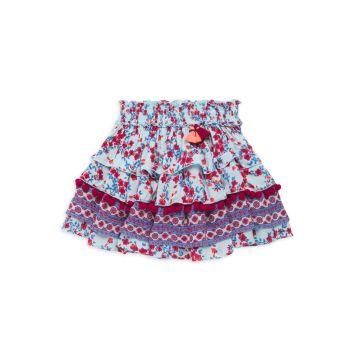 Мини-юбка Ariel с оборками для маленьких девочек и девочек Poupette St Barth