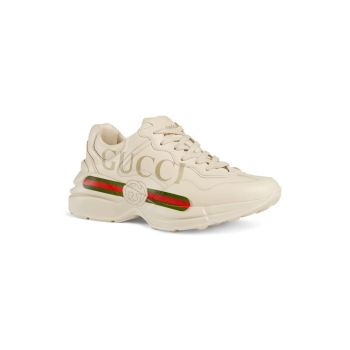 Кожаные кроссовки Rhyton Gucci с логотипом GUCCI
