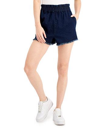 Джинсовые шорты без застежки с потертостями для юниоров Tinseltown