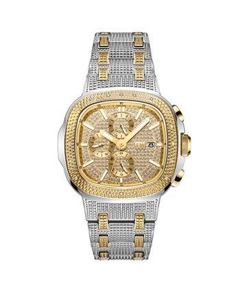 Мужские часы с бриллиантом (1/5 карата) из двухцветной нержавеющей стали с покрытием из 18-каратного золота Часы 48 мм JBW