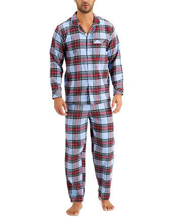 Подходящий мужской семейный пижамный комплект с тартаном, созданный для Macy's Family Pajamas