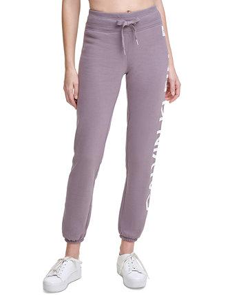Спортивные штаны из флиса с логотипом Calvin Klein