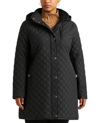 Стеганая куртка с капюшоном больших размеров, созданная для Macy's Ralph Lauren