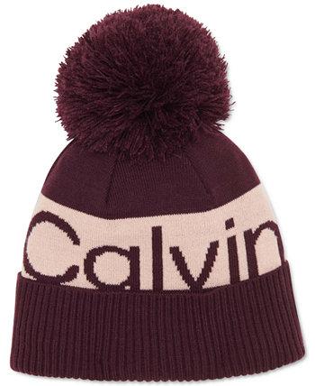 Шапка-бини с логотипом в стиле колор-блок Calvin Klein