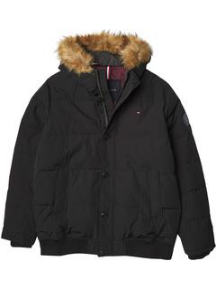 Стеганый бомбер для сноркелинга Arctic Cloth со съемным капюшоном с отделкой из искусственного меха Tommy Hilfiger
