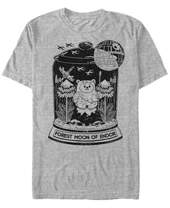 Мужская классическая футболка с короткими рукавами Forest Moon of Endor Ewok Terrarium Star Wars