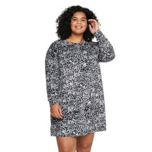 Plus Size Sonoma Goods For Life® Long Sleeve Sleepshirt & Socks Set Sonoma Goods For Life