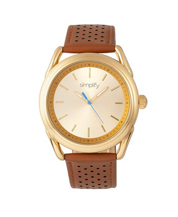 Quartz The 5900 Gold Case, Часы из натуральной верблюжьей кожи 43 мм Simplify