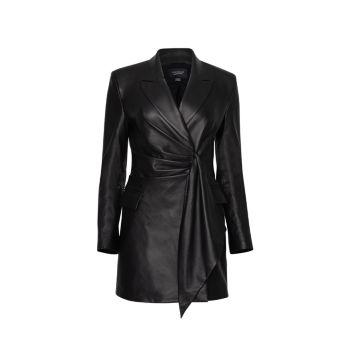 Кожаное платье-пиджак Germaine LAMARQUE