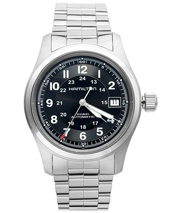 Часы мужские Swiss Automatic Khaki Field браслет из нержавеющей стали 38 мм H70455133 Hamilton