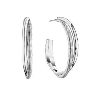 Круглые серьги-кольца из стерлингового серебра Eternity Judith Ripka