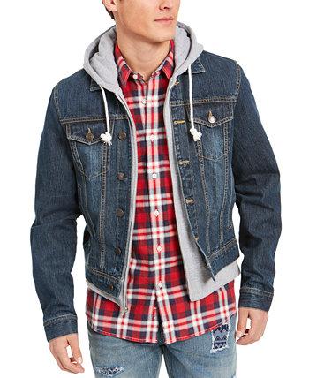 Мужская джинсовая куртка с капюшоном Reeves Trucker, созданная для Macy's Sun + Stone