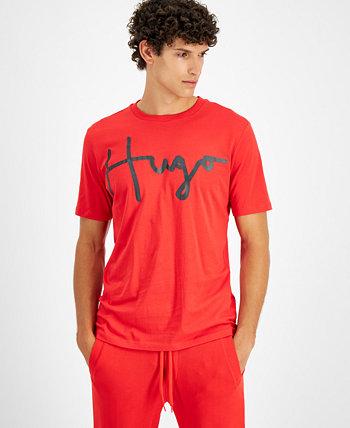 Мужская футболка с надписью Logo, созданная для Macy's HUGO