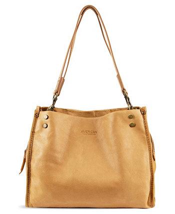 Кожаная сумка-портфель Lennox с тройным входом AMERICAN LEATHER CO.