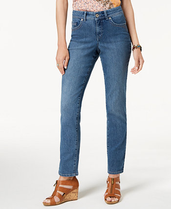 Tummy-Control Straight-Leg Jeans, Created for Macy's Style & Co