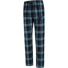 Men's Concepts Sport Black Carolina Panthers Big & Tall Hillstone Flannel Pants Unbranded