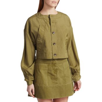Укороченная куртка с текстурированной отделкой Parachute Proenza Schouler