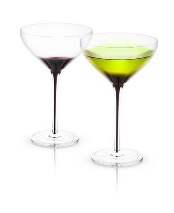 Набор из 2 бокалов для мартини Black Swan JoyJolt