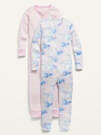Комплект из 2 сплошных пижам унисекс с принтом для малышей и младенцев Old Navy
