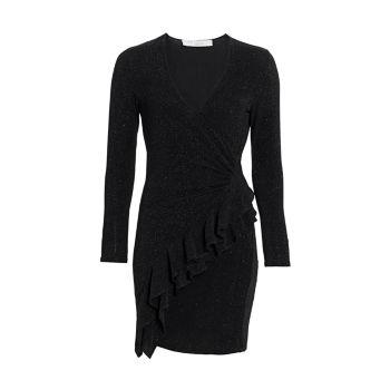 Платье с запахом и блестками Hime с V-образным вырезом IRO