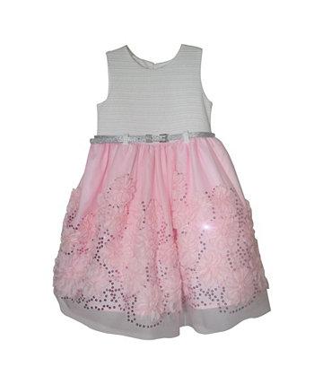 Сутажное платье для маленьких девочек с блестками Blueberi Boulevard