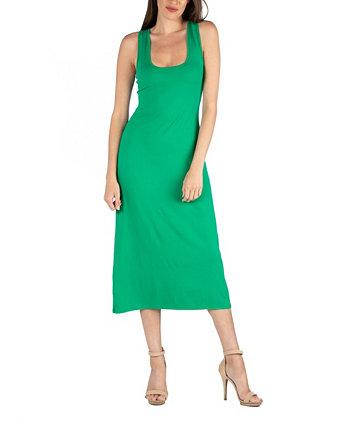 Макси-платье Scoop Neck с отделкой из спортивной ткани 24seven Comfort Apparel