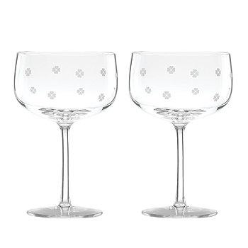 Бокал для шампанского Spade Clover, набор из 2 шт. Kate Spade New York