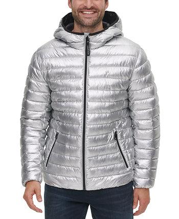 Мужская куртка-пуховик с капюшоном и пуховиком, созданная для Macy's Calvin Klein