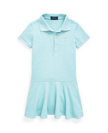 Платье-поло из эластичного пике Ralph Lauren