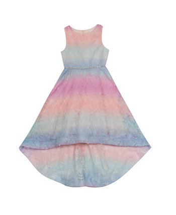 Сутажное платье с эффектом омбре для маленьких девочек Rare Editions