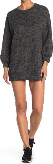 Платье-свитер с мраморным вырезом на рукавах Papillon