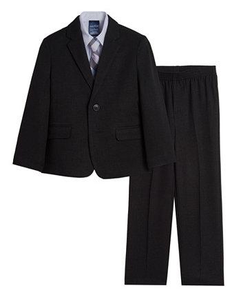 Toddler Boys Solid Texture Suit, 4-piece Set Nautica