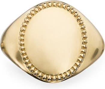 Кольцо с печаткой Shinola