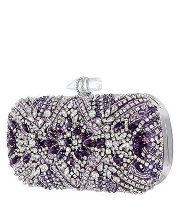 Women's Crystal Embellished Minaudiere Nina