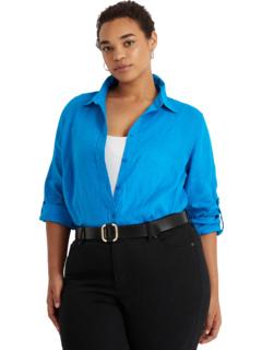 Льняная рубашка большого размера Ralph Lauren