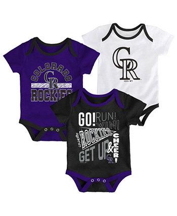 Комплект боди из 3 предметов Baby Colorado Rockies Newest Rookie Outerstuff