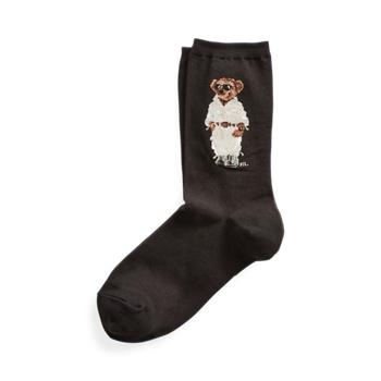Safari Polo Bear Crew Socks  Size Ralph Lauren