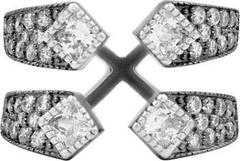 Открытое коктейльное кольцо из стерлингового серебра Pave CZ Freida Rothman