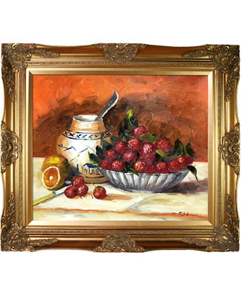 "By Overstockart Strawberries with Victorian Frame, 28"" x 32"" La Pastiche"
