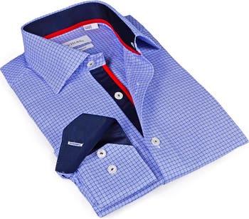 Приталенная спортивная рубашка с фирменным узором Levinas