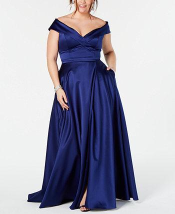 Платье больших размеров с открытыми плечами XSCAPE